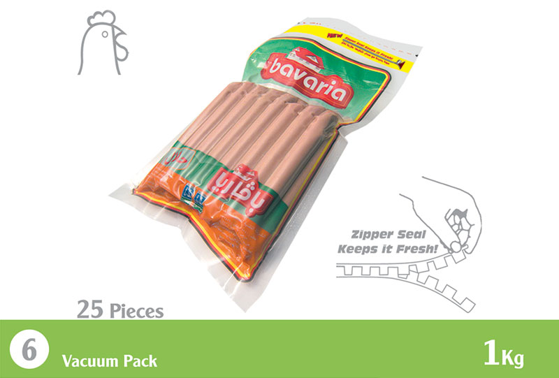 Chicken Hotdog (25 Pieces) 1.0 Kg